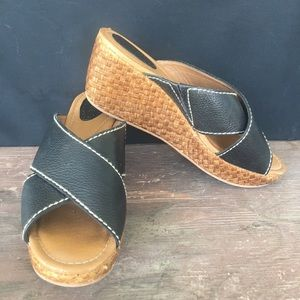 Fossil leather wrap sandals size 8